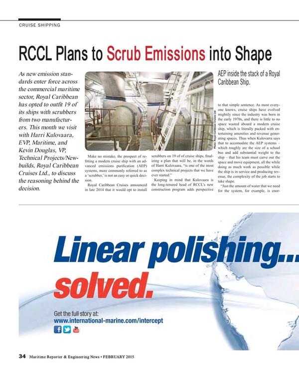Maritime Reporter Magazine, page 34,  Feb 2015