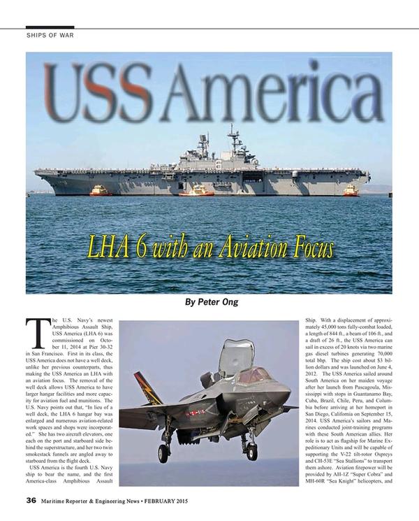 Maritime Reporter Magazine, page 36,  Feb 2015