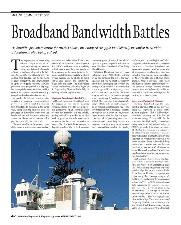 Maritime Reporter Magazine, page 42,  Feb 2015