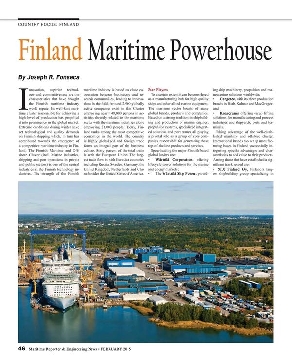 Maritime Reporter Magazine, page 46,  Feb 2015