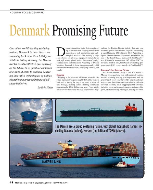 Maritime Reporter Magazine, page 48,  Feb 2015