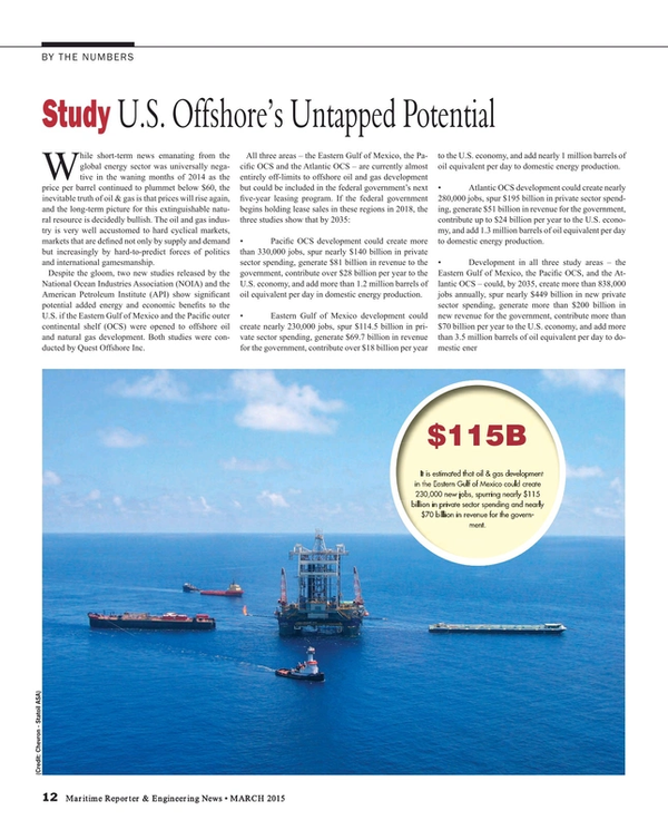 Maritime Reporter Magazine, page 12,  Mar 2015