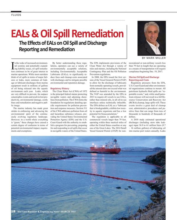 Maritime Reporter Magazine, page 18,  Mar 2015