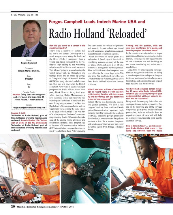 Maritime Reporter Magazine, page 20,  Mar 2015