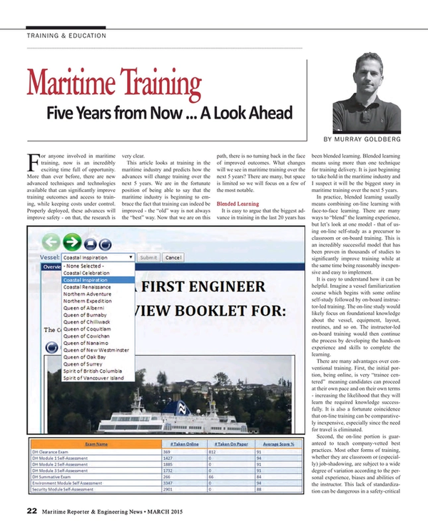 Maritime Reporter Magazine, page 22,  Mar 2015