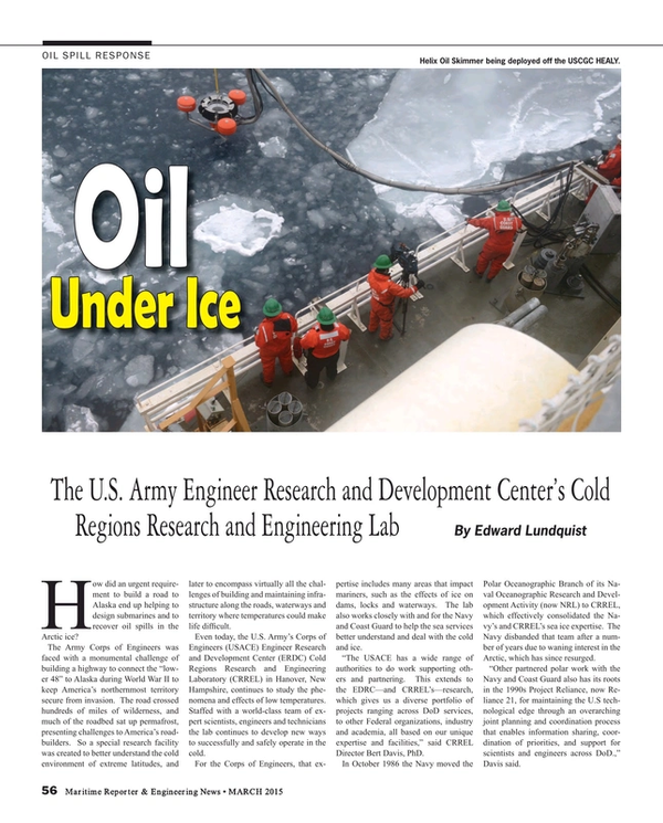 Maritime Reporter Magazine, page 56,  Mar 2015
