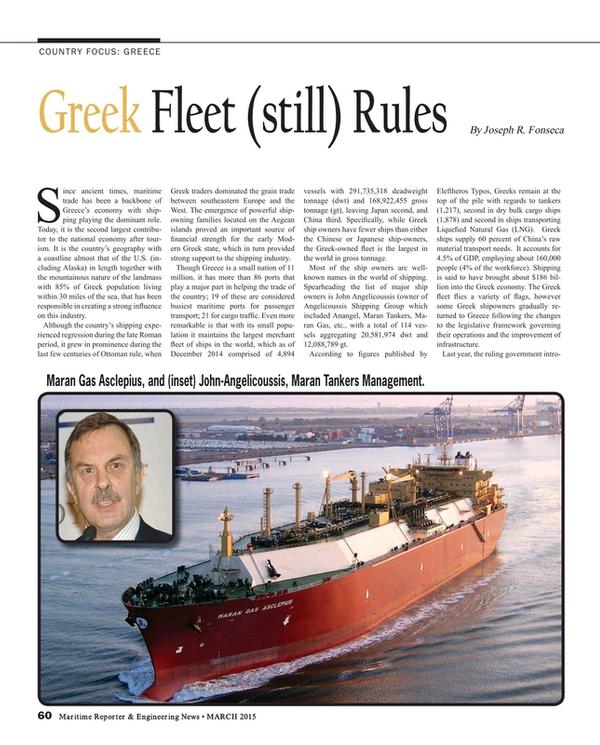 Maritime Reporter Magazine, page 60,  Mar 2015