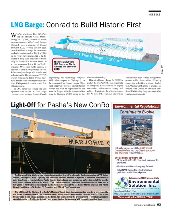Maritime Reporter Magazine, page 63,  Mar 2015