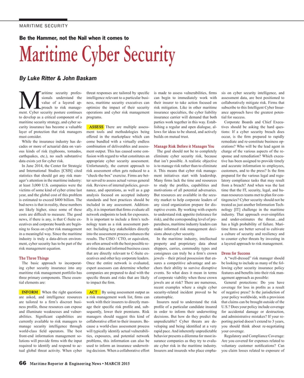 Maritime Reporter Magazine, page 66,  Mar 2015