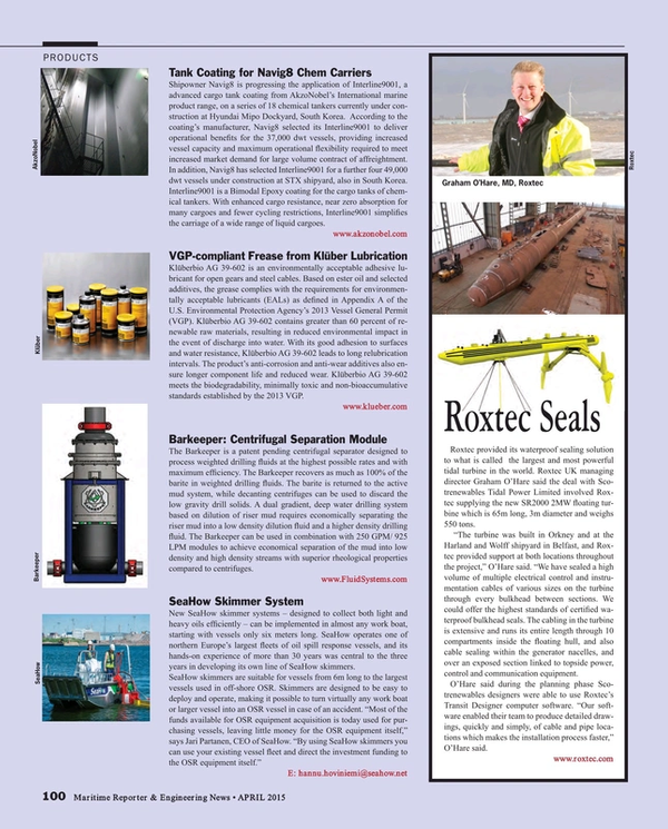 Maritime Reporter Magazine, page 100,  Apr 2015