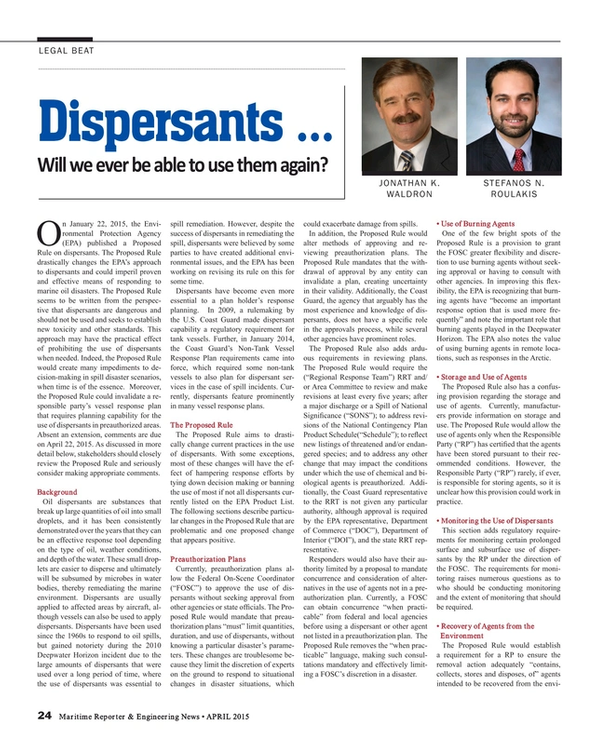 Maritime Reporter Magazine, page 24,  Apr 2015