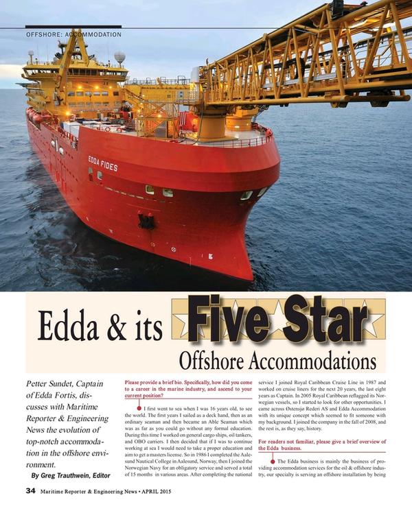 Maritime Reporter Magazine, page 34,  Apr 2015