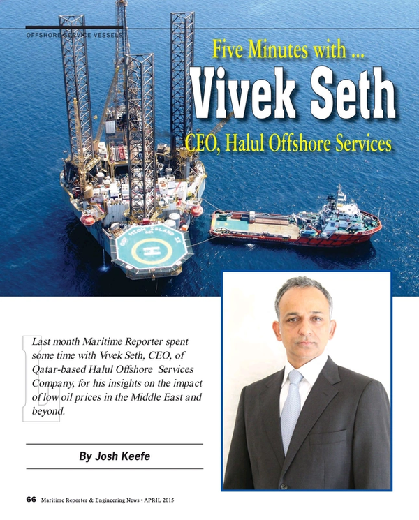 Five Minutes with Halul Offshore CEO, Vivek Seth