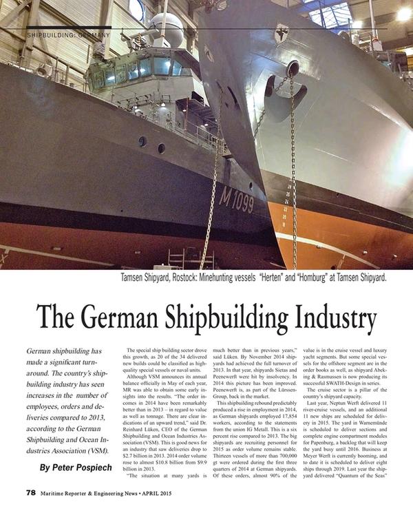 Maritime Reporter Magazine, page 78,  Apr 2015