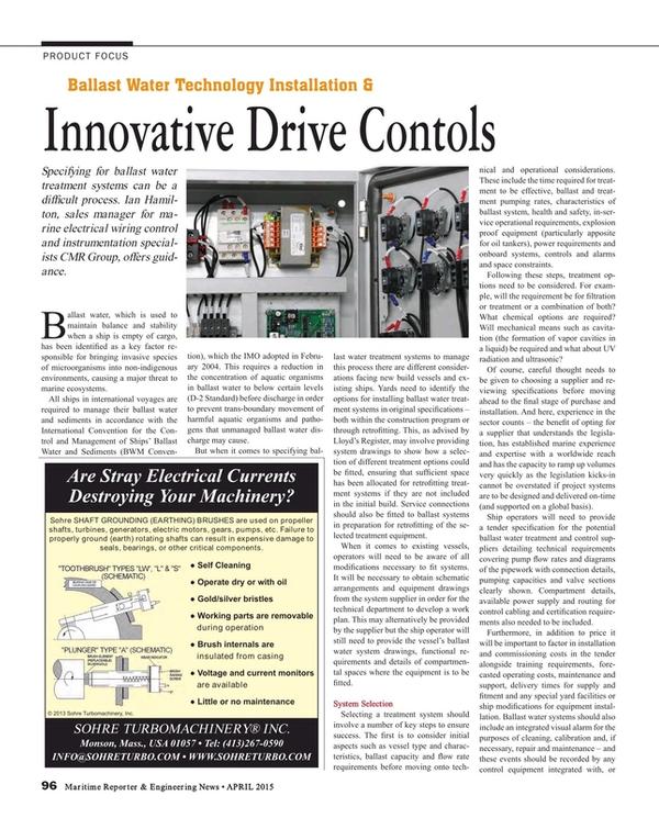 Maritime Reporter Magazine, page 96,  Apr 2015