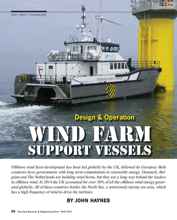 Maritime Reporter Magazine, page 36,  May 2015