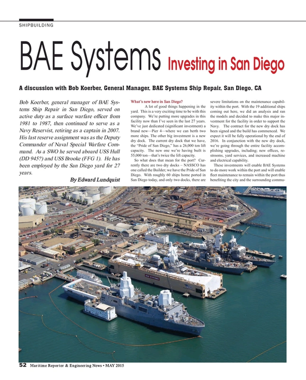 Maritime Reporter Magazine, page 52,  May 2015