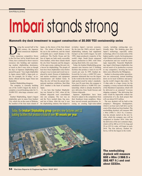 Maritime Reporter Magazine, page 54,  May 2015