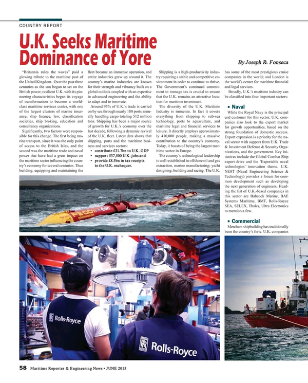 Maritime Reporter Magazine, page 58,  Jun 2015