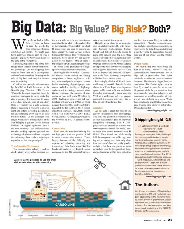 Maritime Reporter Magazine, page 21,  Jul 2015