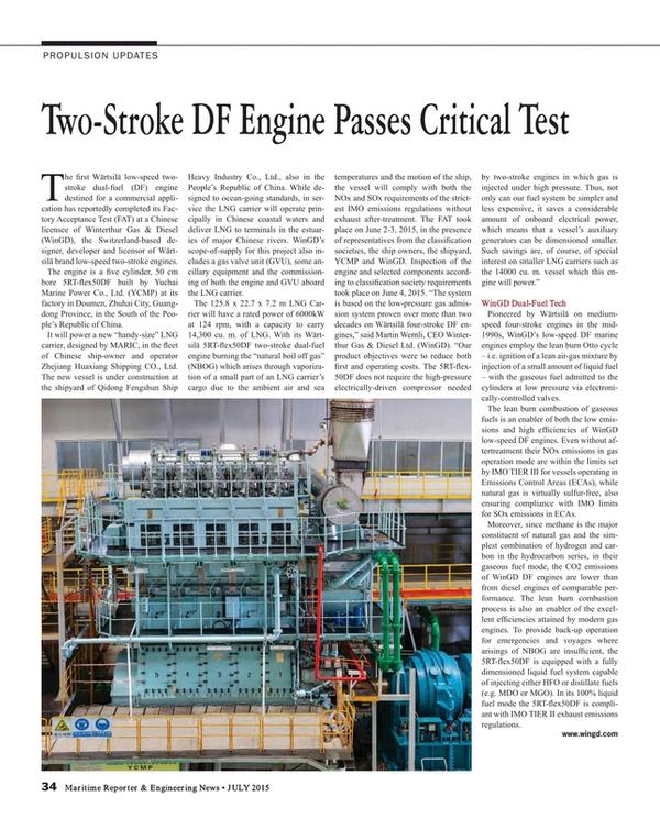 Maritime Reporter Magazine, page 34,  Jul 2015
