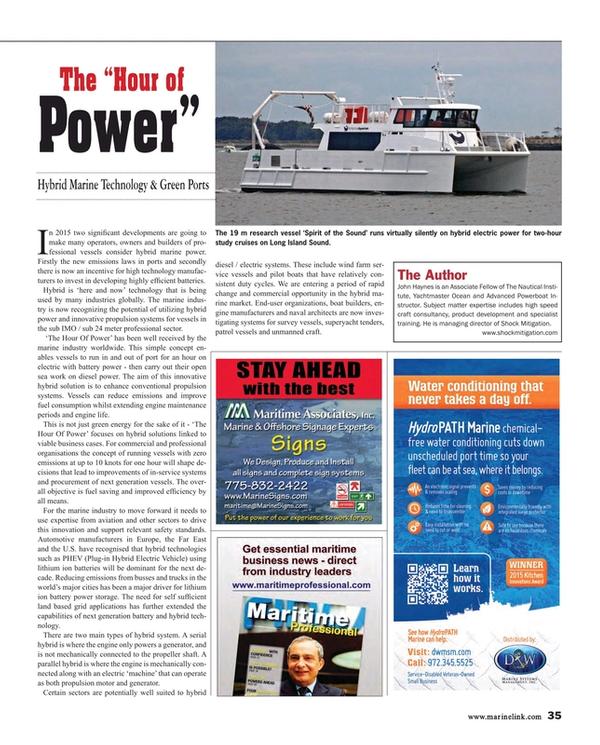 Maritime Reporter Magazine, page 35,  Jul 2015