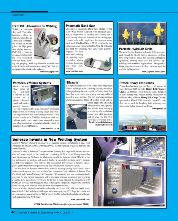 Maritime Reporter Magazine, page 40,  Jul 2015