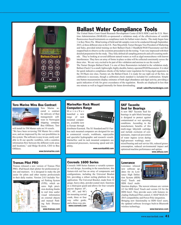 Maritime Reporter Magazine, page 41,  Jul 2015