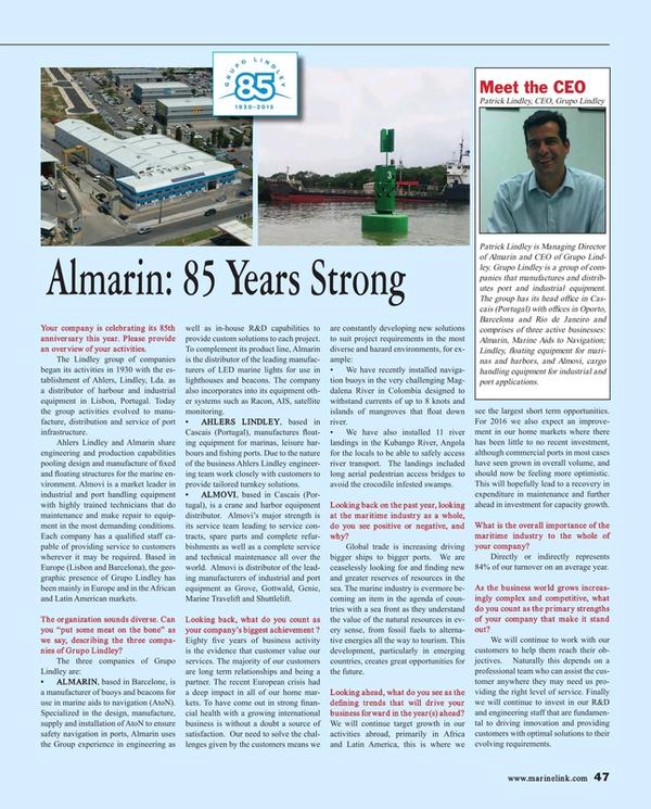 Maritime Reporter Magazine, page 47,  Jul 2015