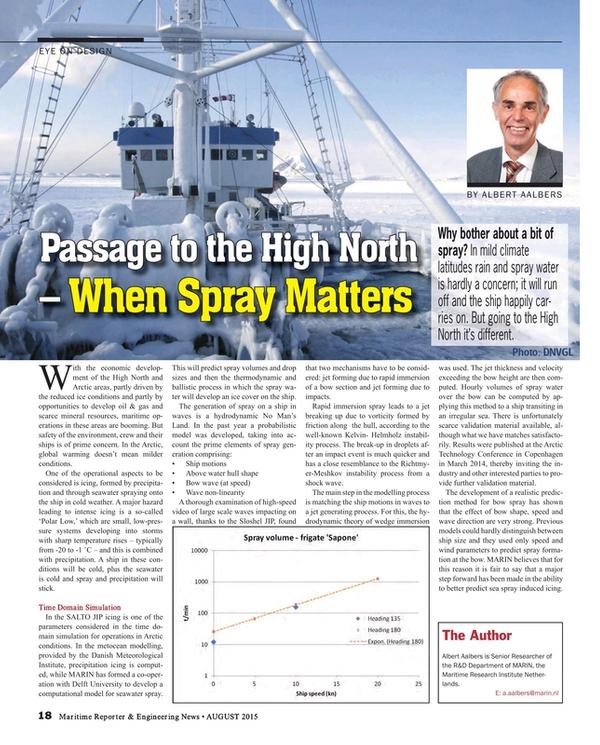 Maritime Reporter Magazine, page 18,  Aug 2015