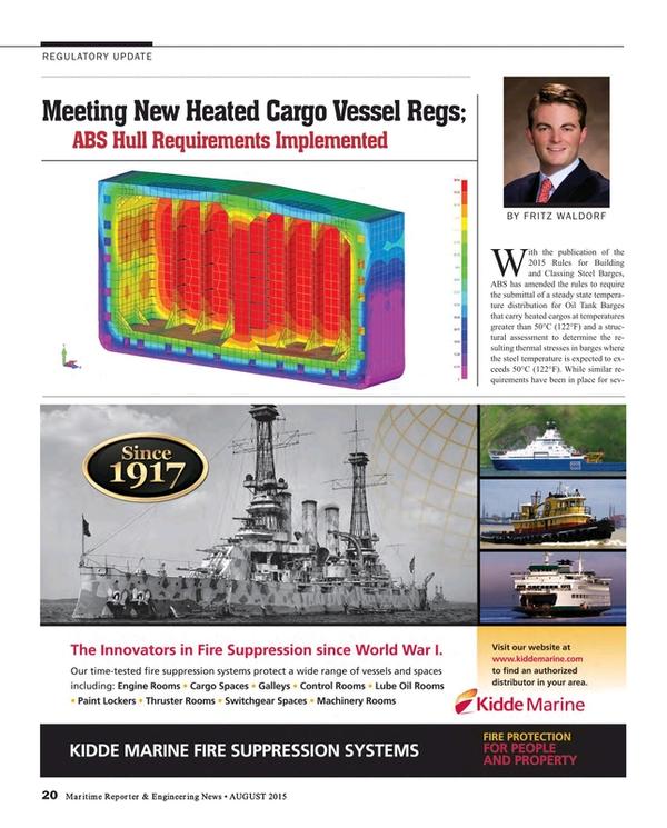 Maritime Reporter Magazine, page 20,  Aug 2015