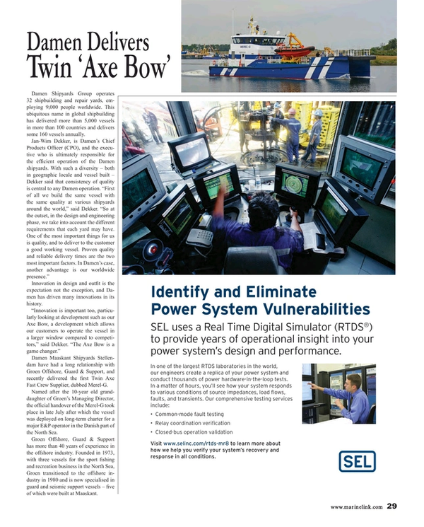 Maritime Reporter Magazine, page 29,  Aug 2015