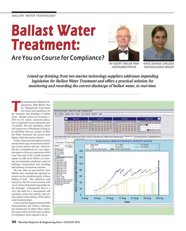 Maritime Reporter Magazine, page 30,  Aug 2015