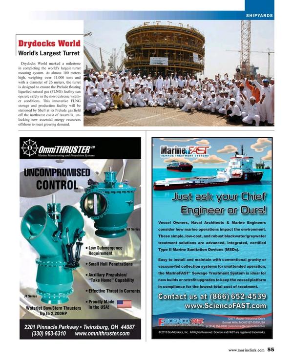 Maritime Reporter Magazine, page 55,  Aug 2015