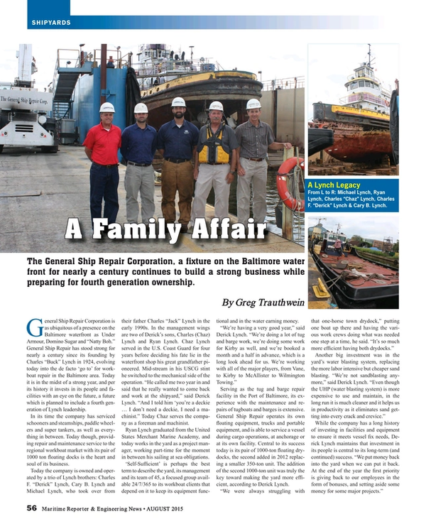 Maritime Reporter Magazine, page 56,  Aug 2015
