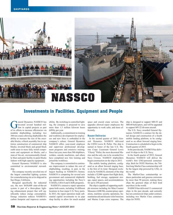 Maritime Reporter Magazine, page 58,  Aug 2015