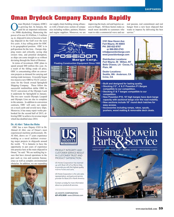 Maritime Reporter Magazine, page 59,  Aug 2015