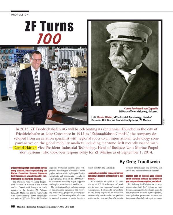 Maritime Reporter Magazine, page 68,  Aug 2015