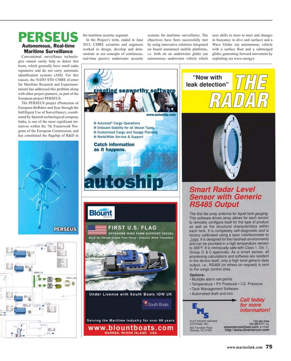 Maritime Reporter Magazine, page 75,  Aug 2015
