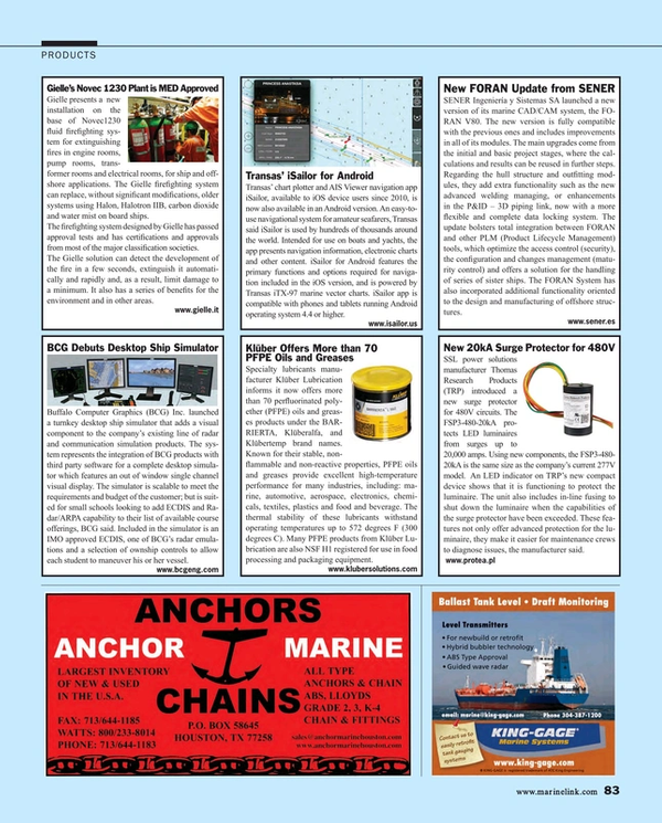 Maritime Reporter Magazine, page 83,  Aug 2015