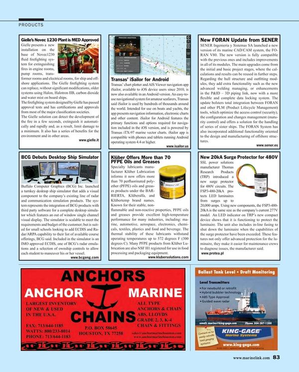 Maritime Reporter Magazine, page 83,  Aug 2015