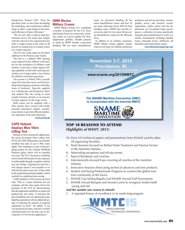 Maritime Reporter Magazine, page 85,  Aug 2015