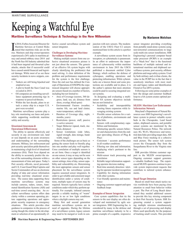 Maritime Reporter Magazine, page 26,  Sep 2015