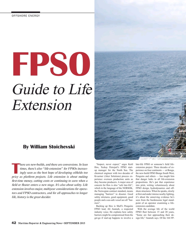 Maritime Reporter Magazine, page 42,  Sep 2015