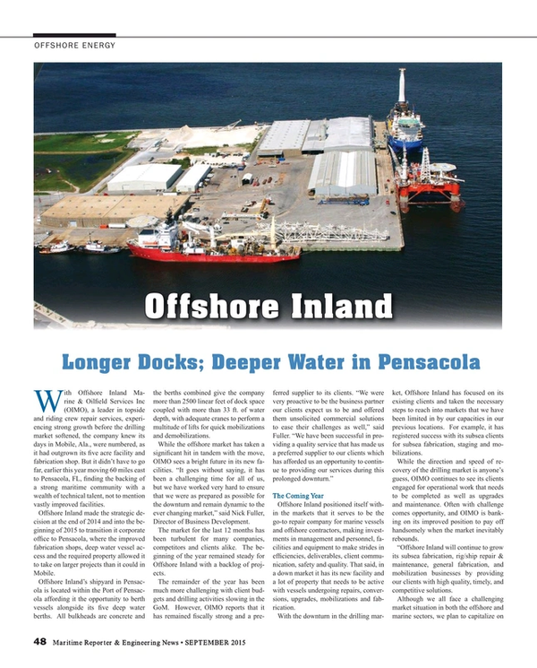 Maritime Reporter Magazine, page 48,  Sep 2015