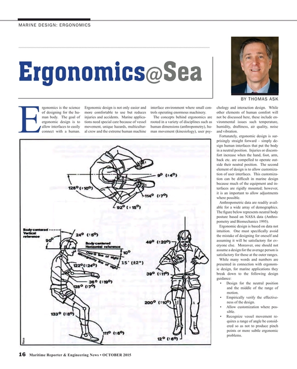 Maritime Reporter Magazine, page 16,  Oct 2015