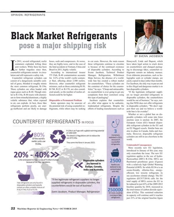 Maritime Reporter Magazine, page 22,  Oct 2015