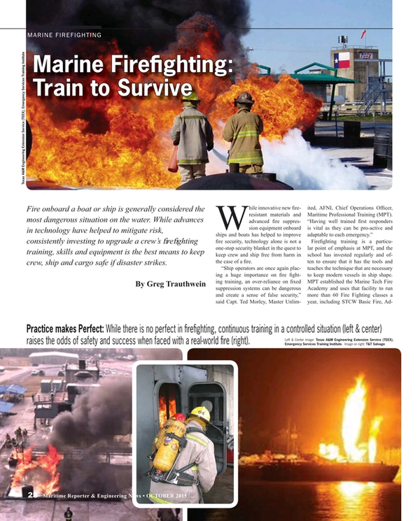 Maritime Reporter Magazine, page 28,  Oct 2015