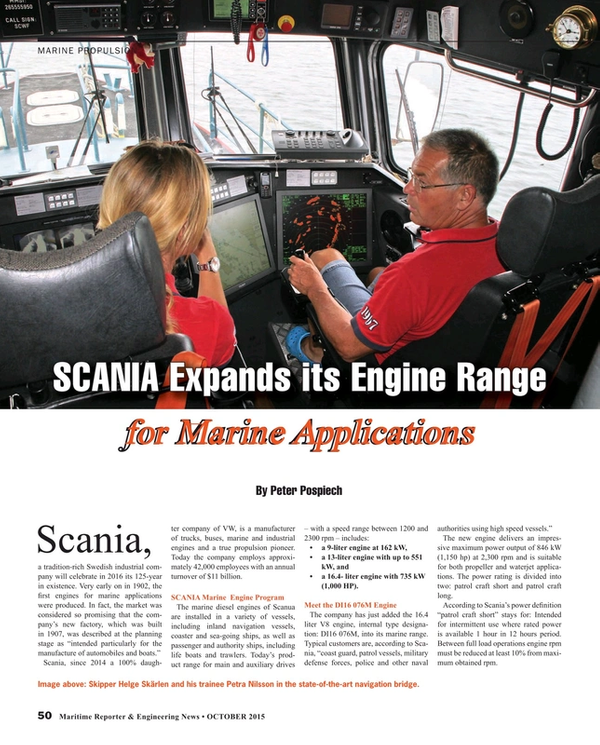 Maritime Reporter Magazine, page 50,  Oct 2015