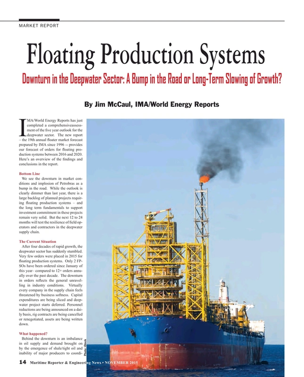 Maritime Reporter Magazine, page 14,  Nov 2015